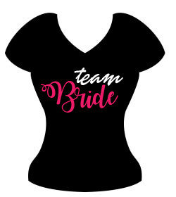 Poklon za djevojačku večer - Majica Team Bride