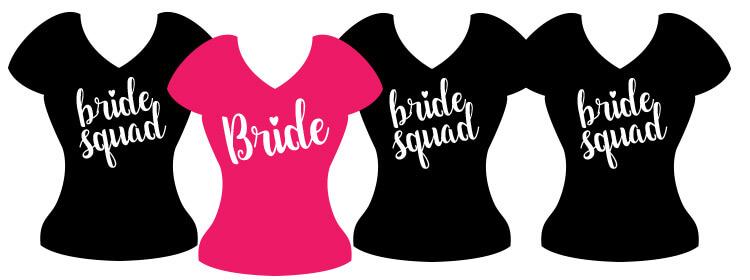 "Poklon za djevojačku večer - Majica ""Bride squad"""